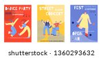 music party announcement poster ...   Shutterstock .eps vector #1360293632
