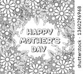 happy mother's day coloring... | Shutterstock . vector #1360296968