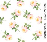 floral watercolor seamless... | Shutterstock . vector #1360299728