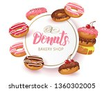vector sweet background frame... | Shutterstock .eps vector #1360302005