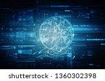 2d illustration technology... | Shutterstock . vector #1360302398