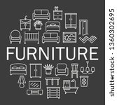 furniture linear icons sale...   Shutterstock .eps vector #1360302695