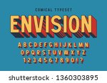 trendy 3d comical font design ... | Shutterstock .eps vector #1360303895