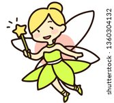fairy with a green dress | Shutterstock .eps vector #1360304132