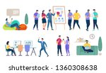 characters set isolated on... | Shutterstock .eps vector #1360308638