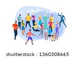 men and women of different ages ... | Shutterstock .eps vector #1360308665