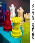 Small photo of Printing 3D printer yellow rook chess figure printed model plastic