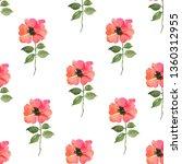 watercolour seamless pattern... | Shutterstock . vector #1360312955