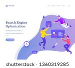 search engine optimization... | Shutterstock .eps vector #1360319285