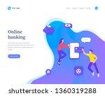 online banking concept ... | Shutterstock .eps vector #1360319288