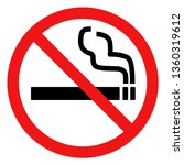 no smoking prohibition sign red ... | Shutterstock .eps vector #1360319612