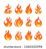 Set Of Vector Flame Icons....