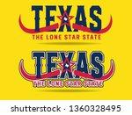 texas logo design concept with... | Shutterstock .eps vector #1360328495