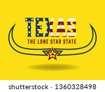 texas logo design concept with... | Shutterstock .eps vector #1360328498