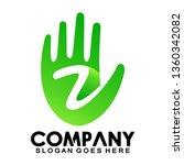 initial letter z hand  five... | Shutterstock .eps vector #1360342082