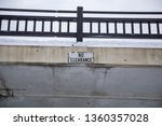 no clearance sign on bridge low ... | Shutterstock . vector #1360357028
