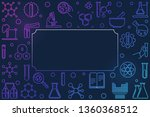 chemical colorful horizontal... | Shutterstock .eps vector #1360368512