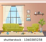 baby scattered toys on floor.... | Shutterstock .eps vector #1360385258