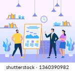 business coach person in blue... | Shutterstock .eps vector #1360390982