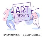 vector illustration of people... | Shutterstock .eps vector #1360408868