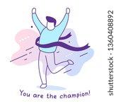 vector sport illustration of... | Shutterstock .eps vector #1360408892