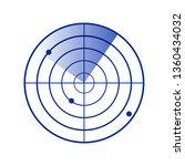 radar screen icon. clipart... | Shutterstock .eps vector #1360434032