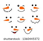 Snowman Cute Face For Christmas