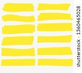 yellow highlight marker. brush... | Shutterstock .eps vector #1360465028