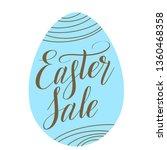 easter sale. egg shape... | Shutterstock .eps vector #1360468358