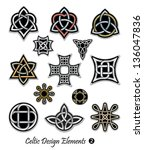celtic ornaments and... | Shutterstock .eps vector #136047836