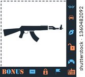 assault rifle. perfect icon... | Shutterstock .eps vector #1360482092