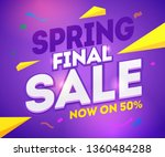spring final sale word concept... | Shutterstock .eps vector #1360484288