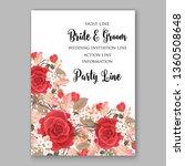 red scarlet rose wedding... | Shutterstock .eps vector #1360508648