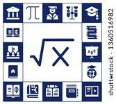 university icon set. 17 filled... | Shutterstock .eps vector #1360516982