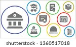 diploma icon set. 9 filled... | Shutterstock .eps vector #1360517018