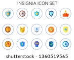 insignia icon set. 15 flat... | Shutterstock .eps vector #1360519565