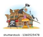 pirate tavern. vector...   Shutterstock .eps vector #1360525478