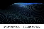 3d sea dots wave glowing stream.... | Shutterstock .eps vector #1360550432