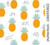 seamless pattern with pineapple ... | Shutterstock .eps vector #1360553822