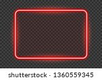 bright red neon frame with... | Shutterstock .eps vector #1360559345