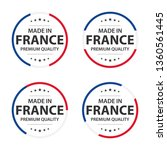 set of four french icons  made... | Shutterstock .eps vector #1360561445