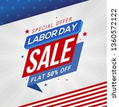 labor day sale promotion banner ... | Shutterstock .eps vector #1360572122