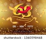 68 years anniversary logo... | Shutterstock .eps vector #1360598468