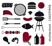 vector illustration of barbecue ... | Shutterstock .eps vector #136059848