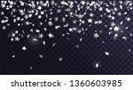falling silver stars confetti... | Shutterstock .eps vector #1360603985