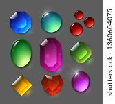set of vector gems. jewelery ... | Shutterstock .eps vector #1360604075