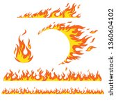 set of flame elements on a... | Shutterstock .eps vector #1360604102