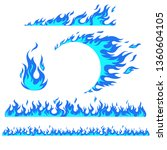 set of flame elements on a... | Shutterstock .eps vector #1360604105