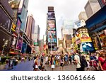 new york city   august 22 ... | Shutterstock . vector #136061666