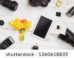 workplace photographer  camera  ...   Shutterstock . vector #1360618835